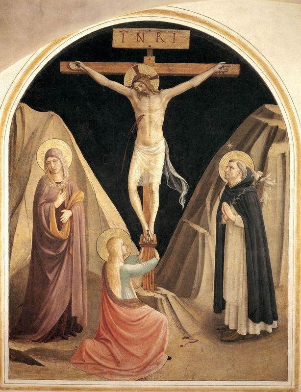 Crucifixion with the Virgin, Mary Magdalene and St. Dominic - Fra Angelico