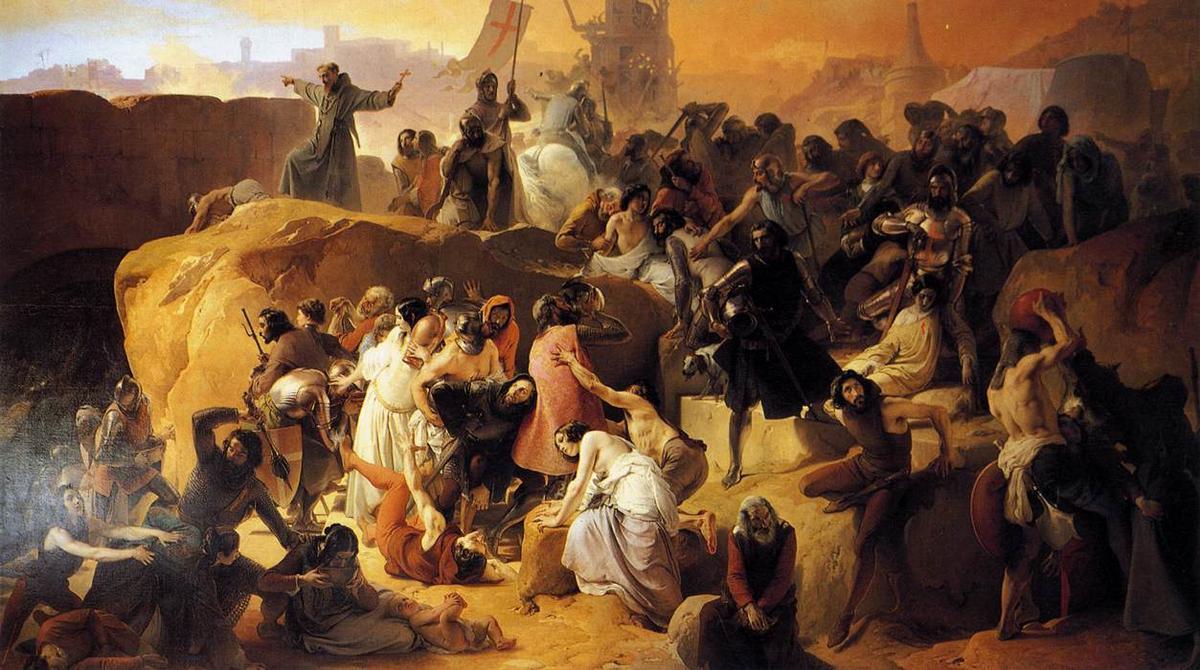 Crusaders Thirsting near Jerusalem - Francesco Hayez