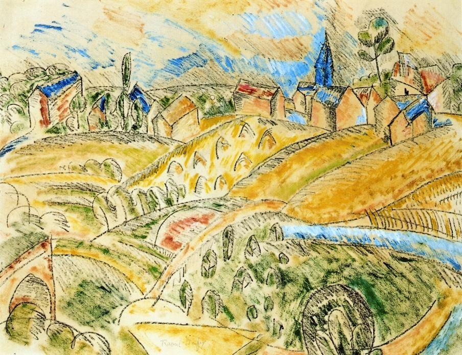 Cubist Landscape with Haystacks - Raoul Dufy