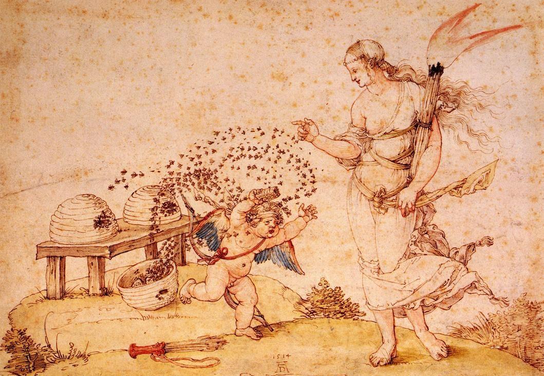 Cupid the Honey Thief - Albrecht Durer