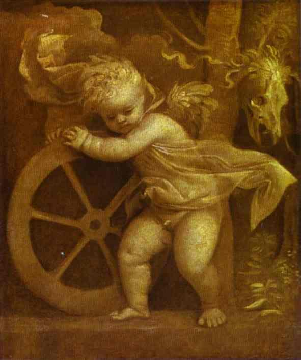 Cupid with the Wheel of Fortune - Titian