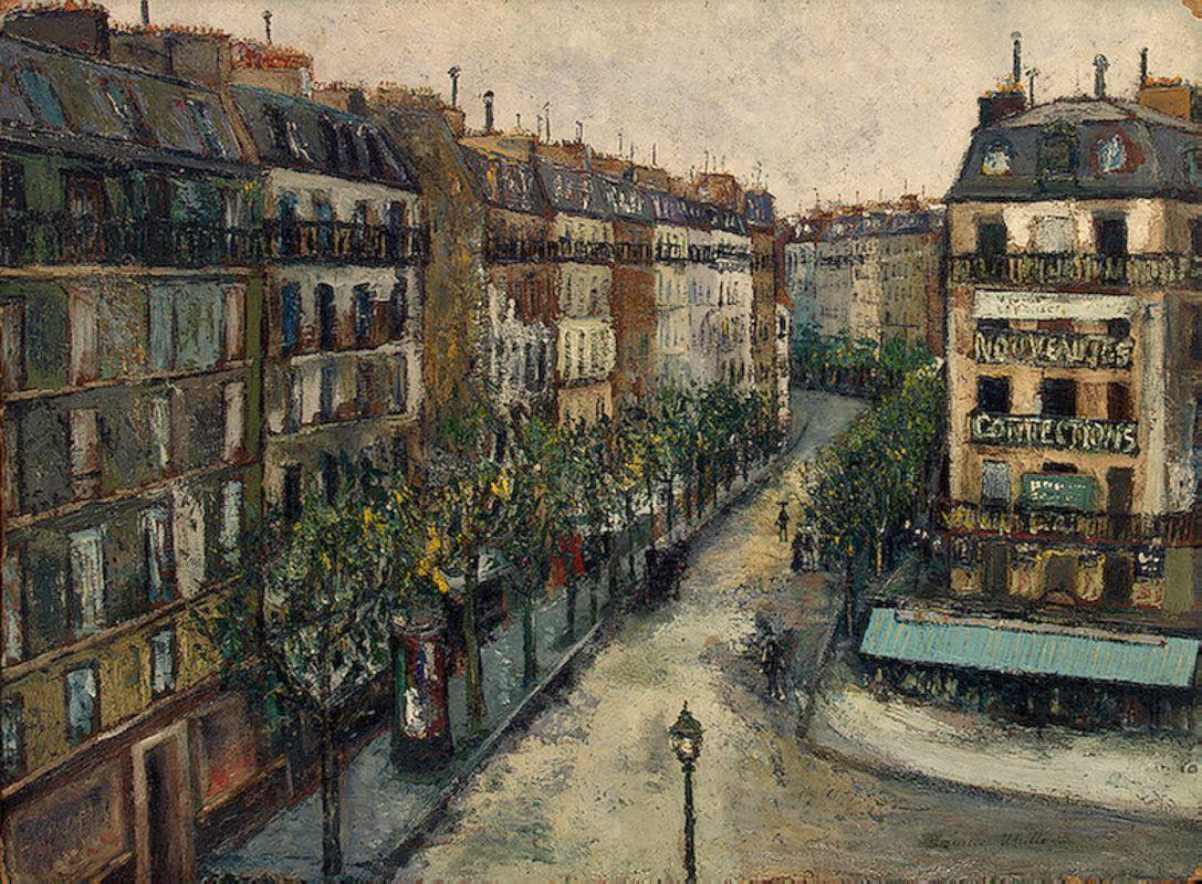 Custine street near Montmartre - Maurice Utrillo