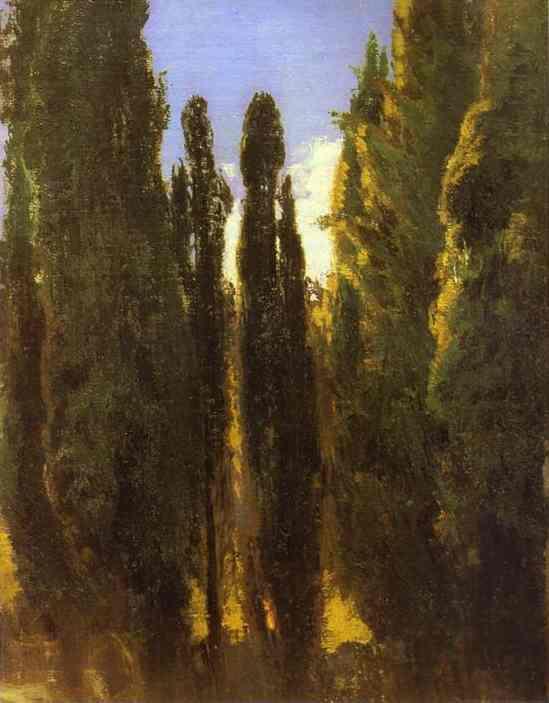 Cypresses in the Crimea - Fyodor Vasilyev