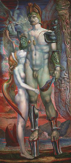 DAEDALUS AND THE NYMPH (from the Lohengrin Cycle) - Ernst Fuchs