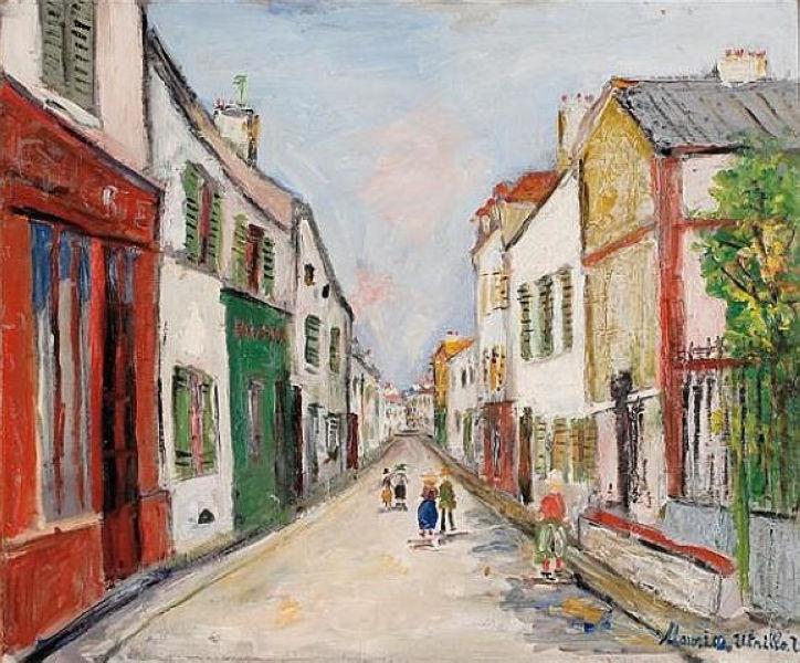 Damiette Street in Sannois - Maurice Utrillo