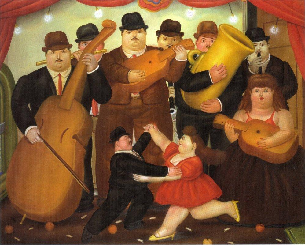Dance in Colombia - Fernando Botero