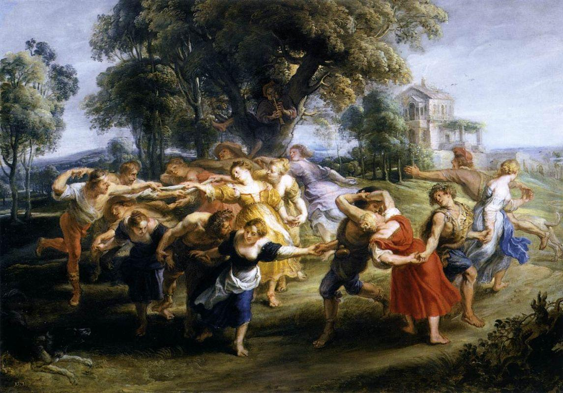 Dance of Italian Villagers - Peter Paul Rubens