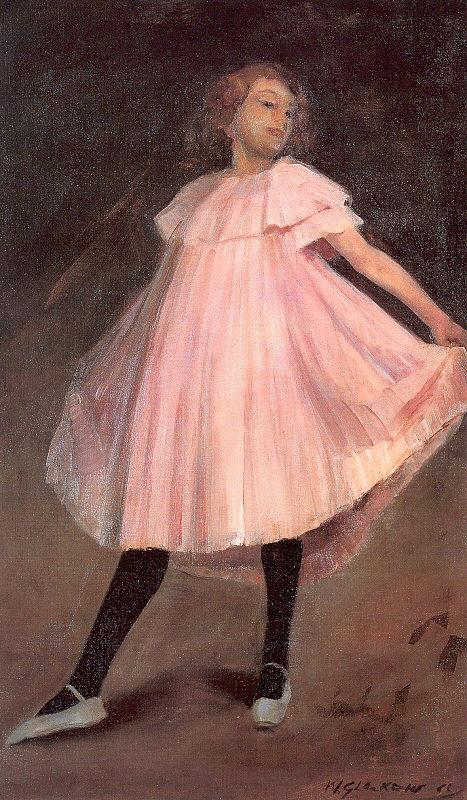 Dancer in a pink dress - William James Glackens