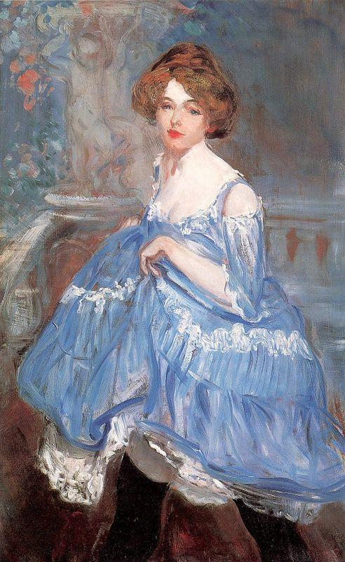 Dancer in blue - William James Glackens