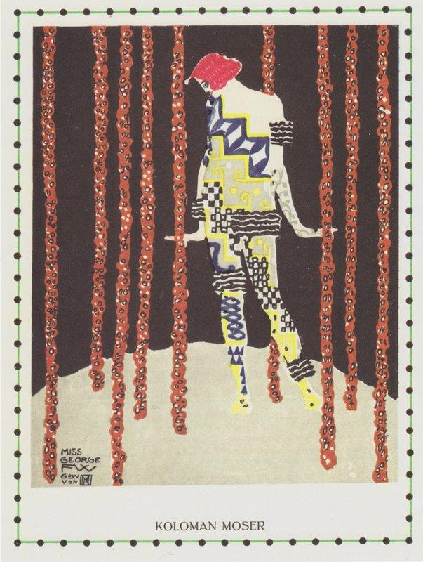 Dancer Miss Olga George - Koloman Moser