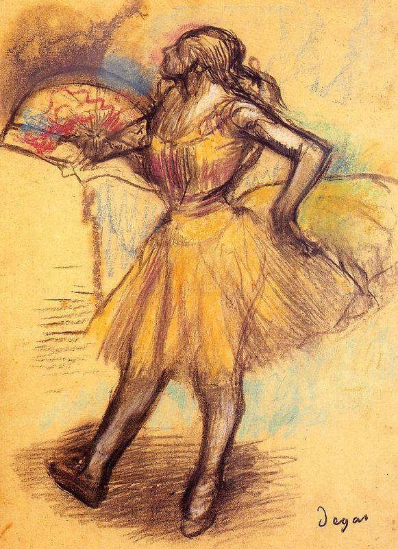 Dancer with a Fan (study) - Edgar Degas