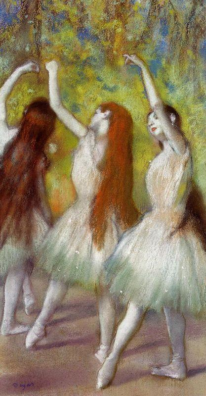 Dancers in Green - Edgar Degas