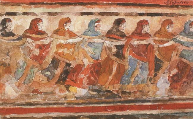 Dancing girls - Vasily Surikov