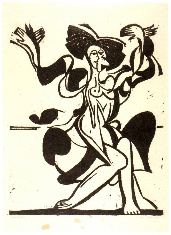 Dancing Mary Wigman - Ernst Ludwig Kirchner