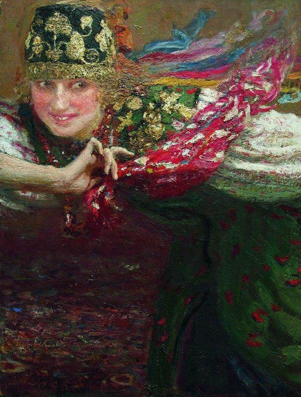Dancing woman - Ilya Repin