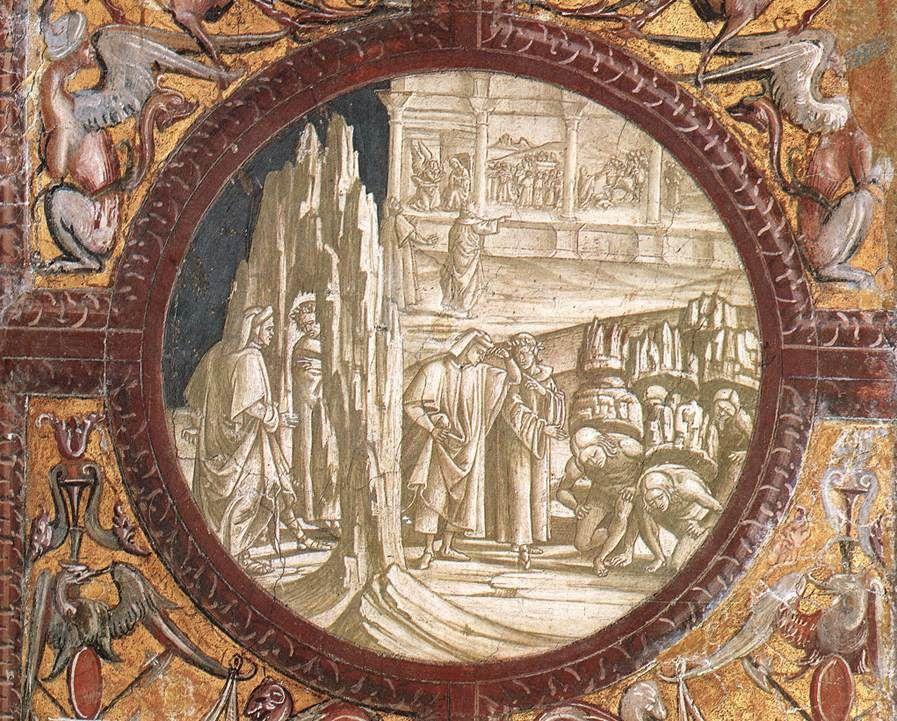 Dante and Virgil Entering Purgatory - Luca Signorelli