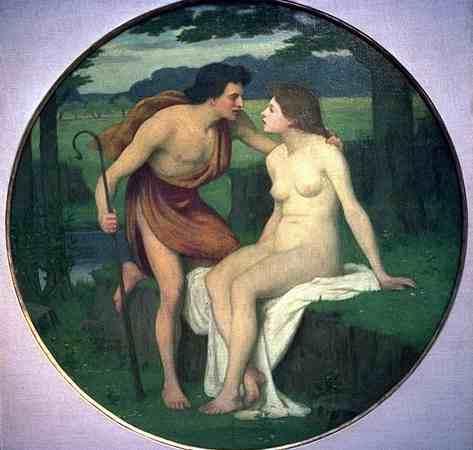 Daphnis and Chloe - Pierre Puvis de Chavannes
