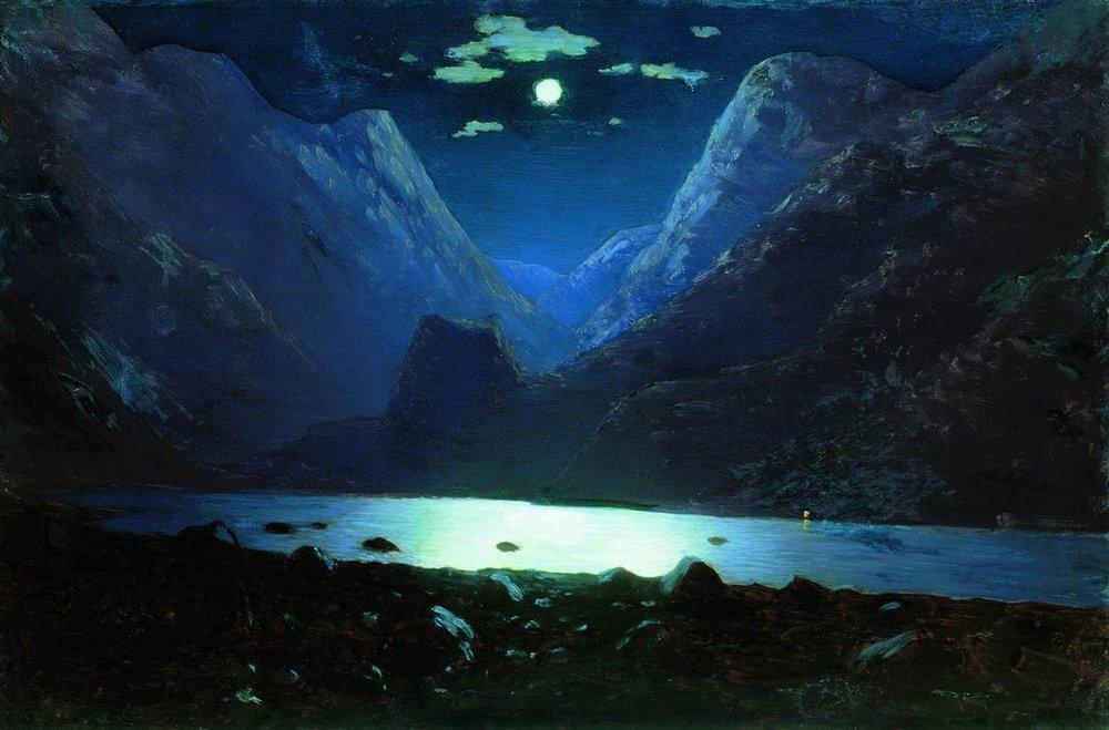 Daryal pass. Moonlight Night - Arkhip Kuindzhi