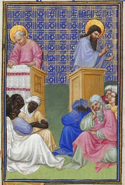 David Foresees the Preaching of the Apostles - Limbourg brothers