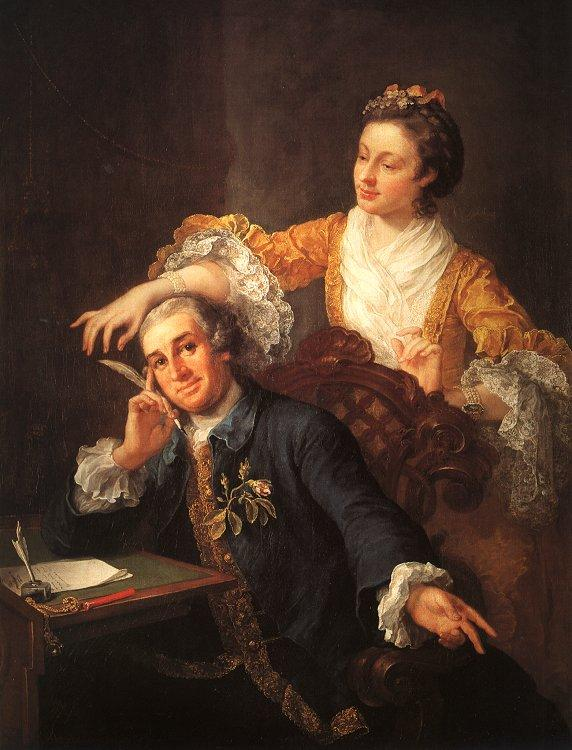 David Garrick and his Wife - William Hogarth