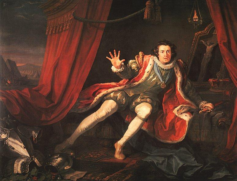 David Garrick as Richard III - William Hogarth