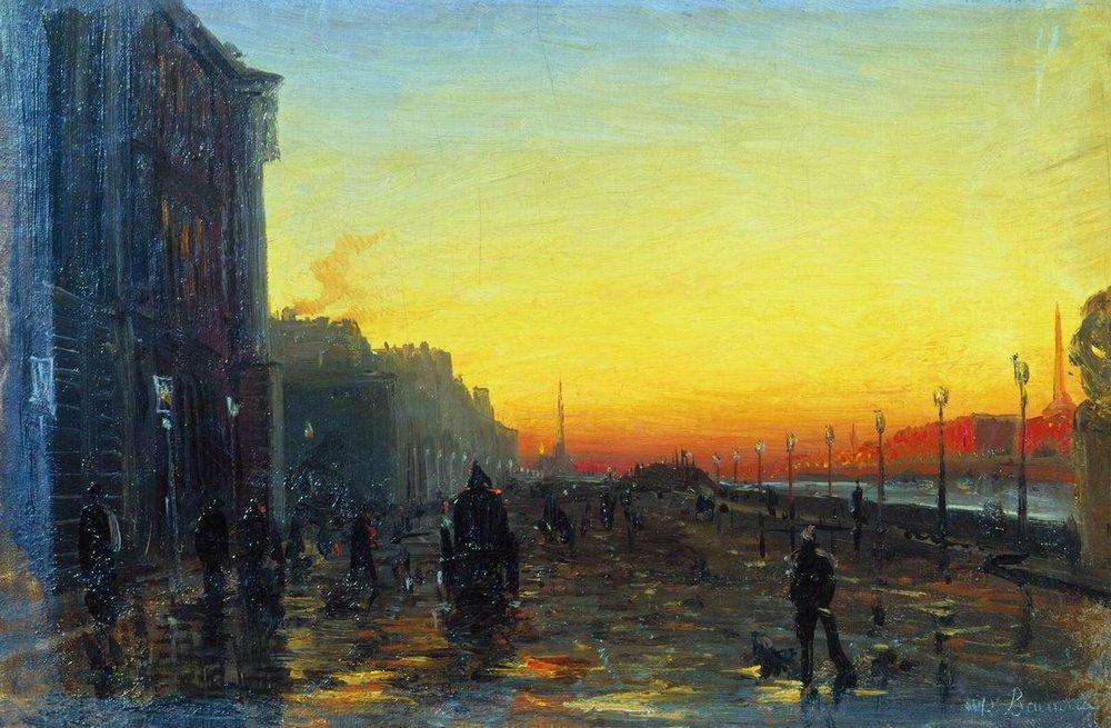 Dawn in St. Petersburg - Fyodor Vasilyev