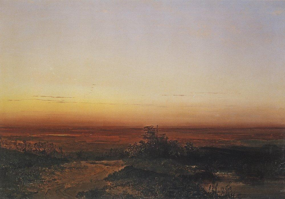 Dawn in the desert - Aleksey Savrasov