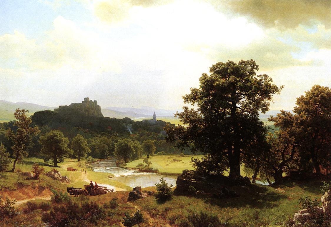 Day's Beginning - Albert Bierstadt