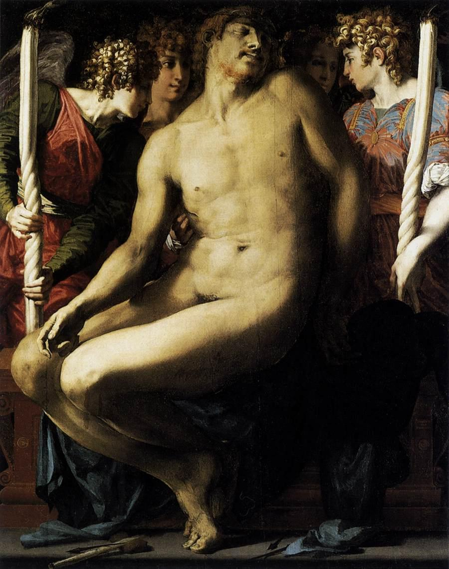 Dead Christ with Angels - Rosso Fiorentino
