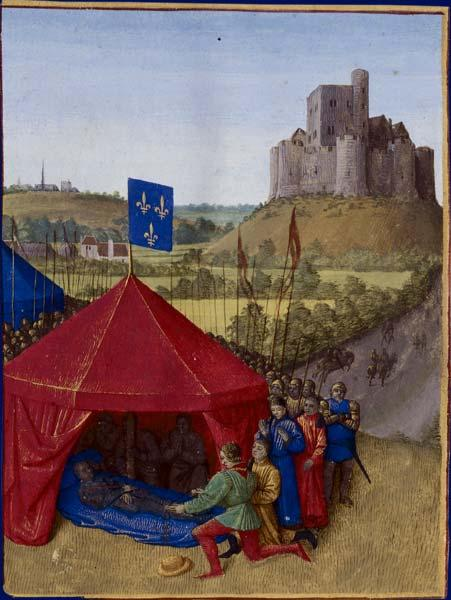 Death of Bertrand du-Guesclin - Jean Fouquet