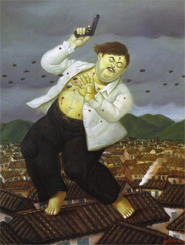 Death of Pablo Escobar - Fernando Botero