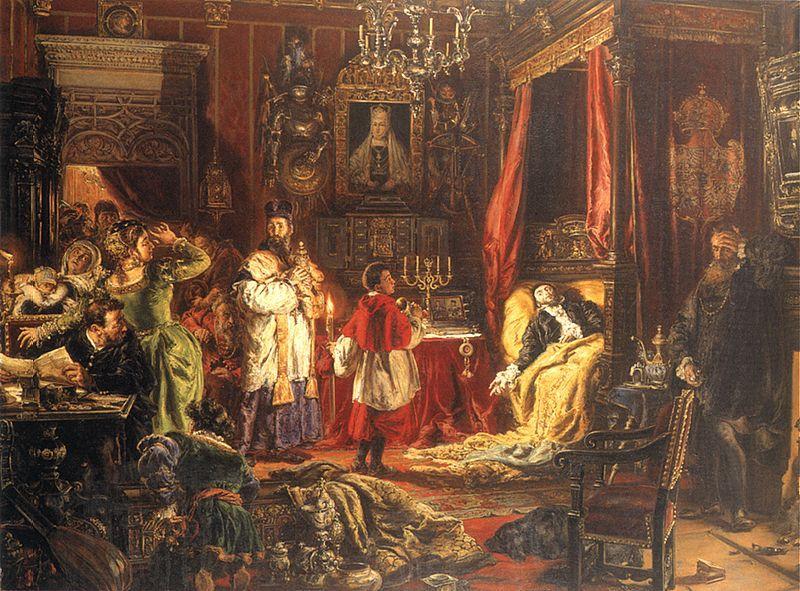 Death of Sigismund Augustus at Knyszyn - Jan Matejko