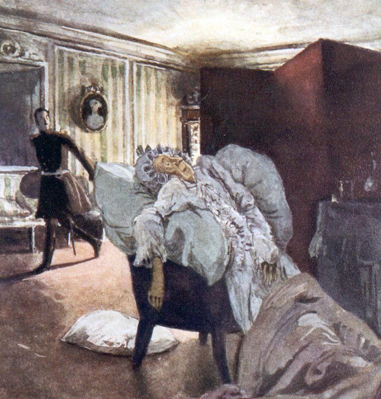 Death of the Countess - Alexandre Benois