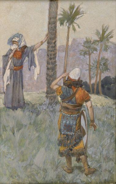 Deborah Beneath the Palm Tree - James Tissot