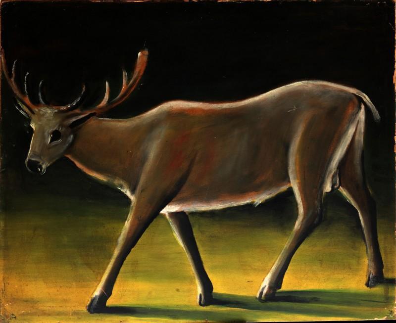 Running deer - Niko Pirosmani