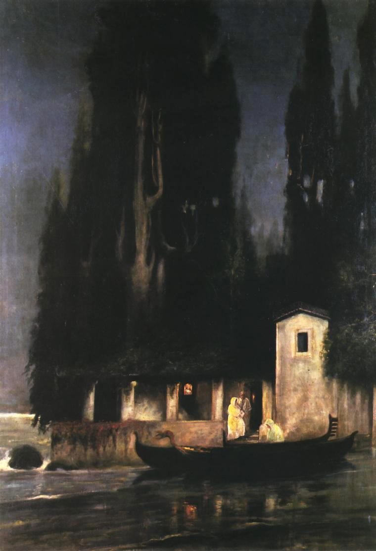 Departure from an Island at Night - Henryk Siemiradzki