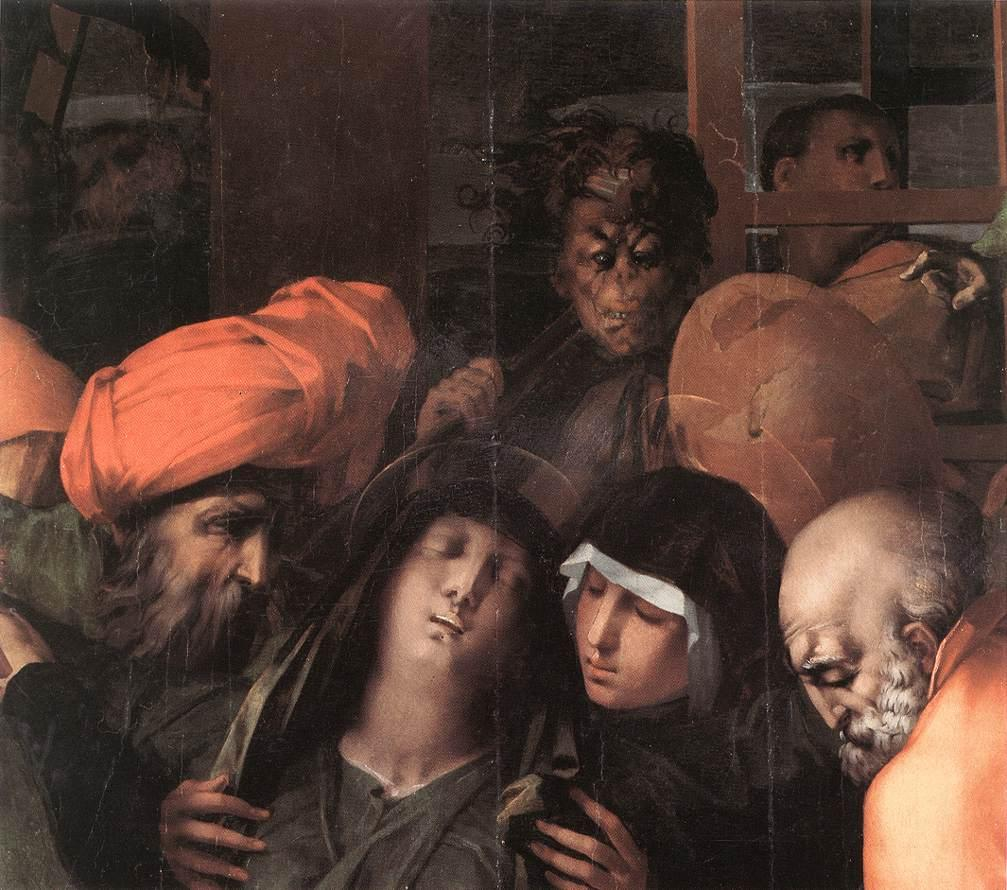 Deposition from the Cross (detail) - Rosso Fiorentino