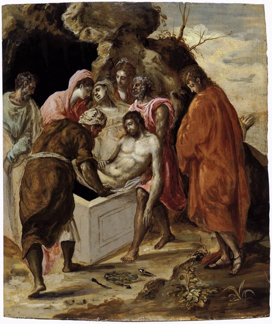 Deposition in the tomb - El Greco