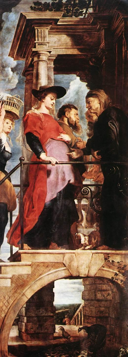 Descent from the Cross (left wing) - Peter Paul Rubens
