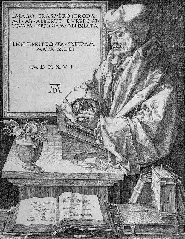 Desiderius Erasmus of Rotterdam - Albrecht Durer