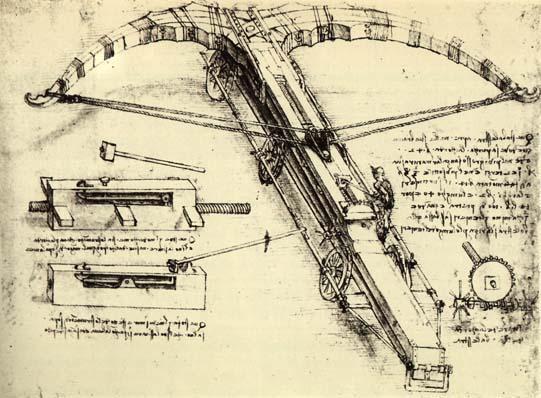 Design for a Giant Crossbow - Leonardo da Vinci