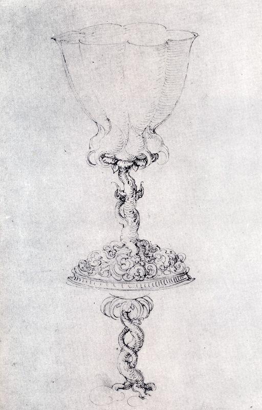 Design For a Goblet, With A Variant Of The Base - Albrecht Durer