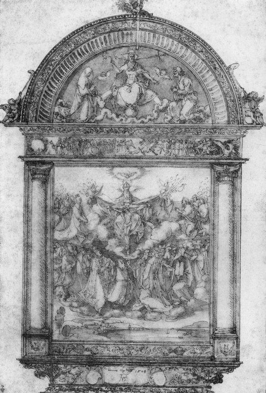 Design for All Saints picture - Albrecht Durer
