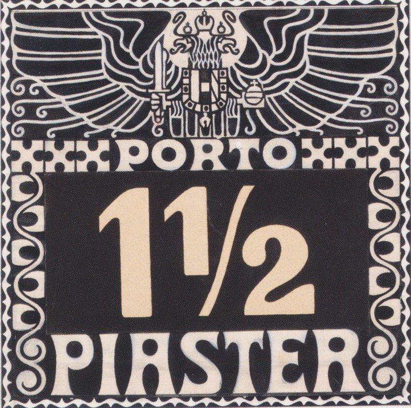 Design for the 1102 piastres Porto brand of Austrian Post in the Levant (not issued) - Koloman Moser