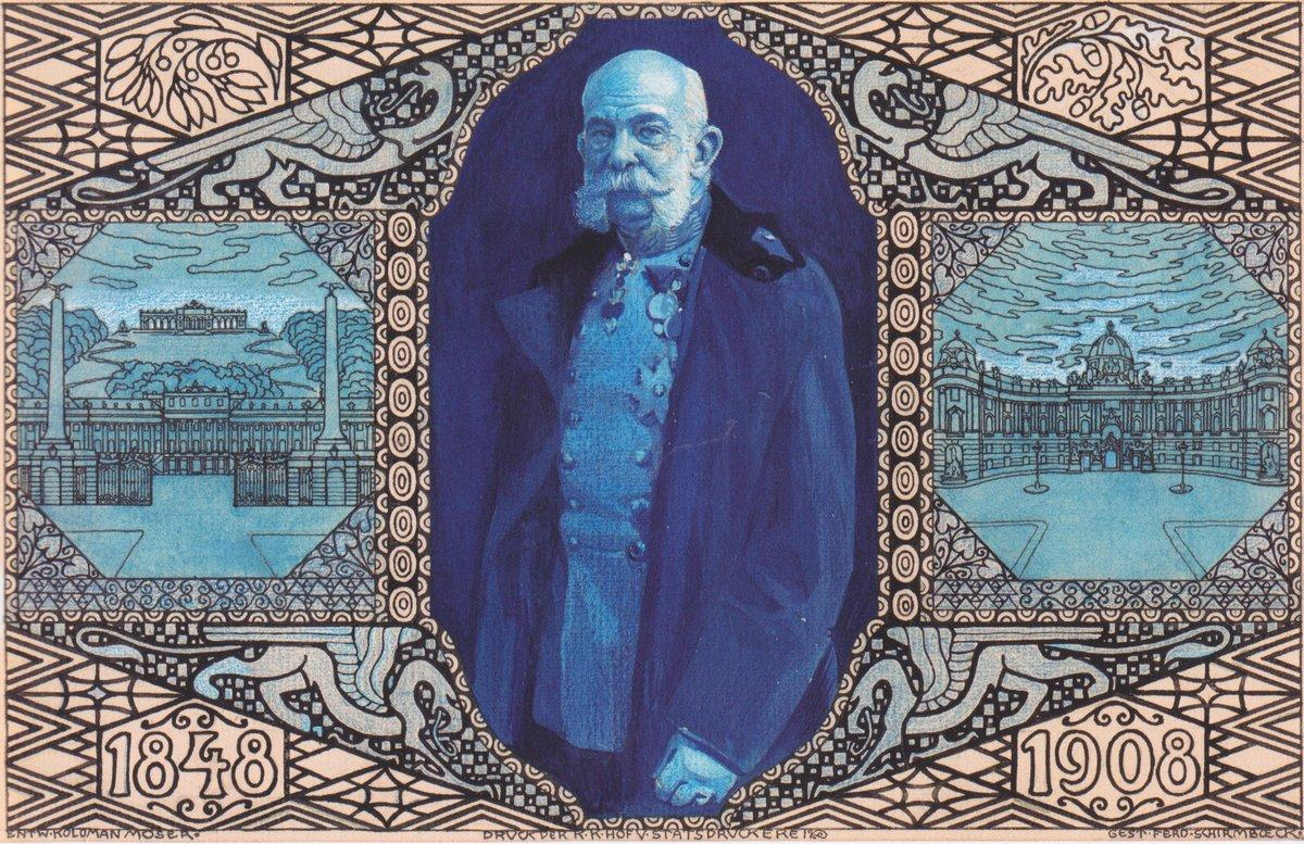 Design for the anniversary card Korrespodenz (Vienna edition) - Koloman Moser