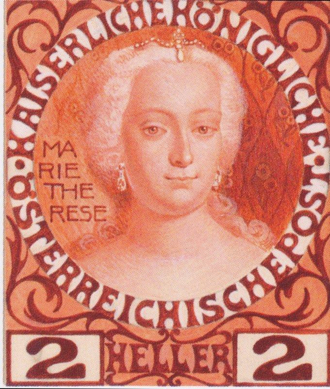 Design for the Anniversary Stamp Austrian with Empress Maria Theresa - Koloman Moser
