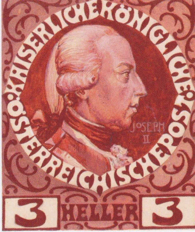 Design for the Anniversary Stamp with Austrian Emperor Joseph II - Koloman Moser