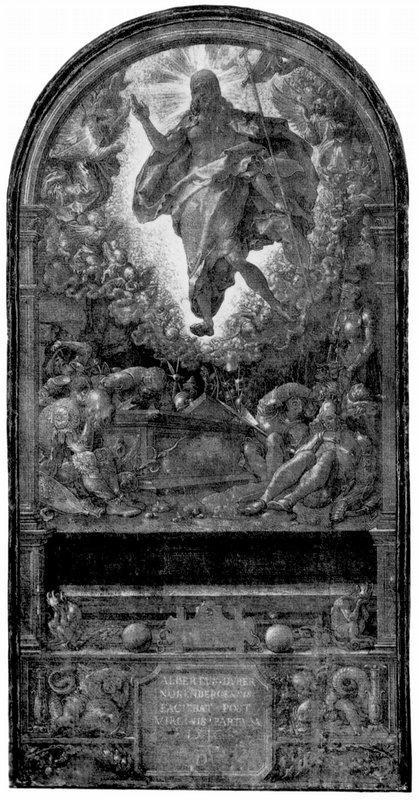 Design for the Fugger Chapel in Augsburg resurrection of Christ - Albrecht Durer