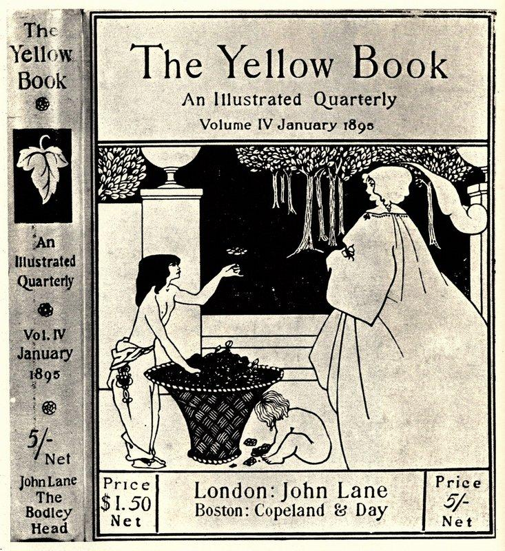 Design (unused) for the cover of Volume IV of 'The Yellow Book' - Aubrey Beardsley