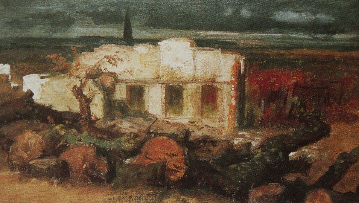 Destroyed house in Kehl - Arnold Bocklin